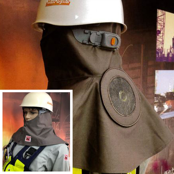 ファン付き防炎溶接帽(SUSメッシュカバー付き)