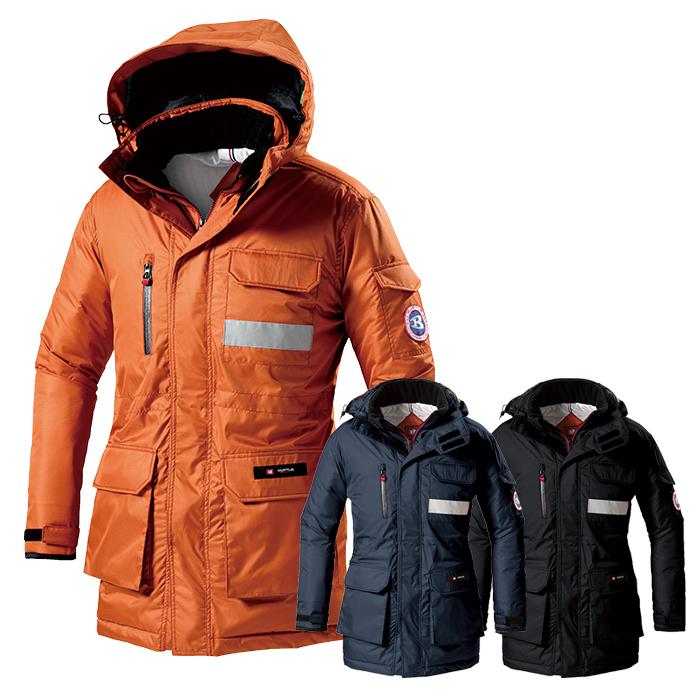 防寒コート大型フード付