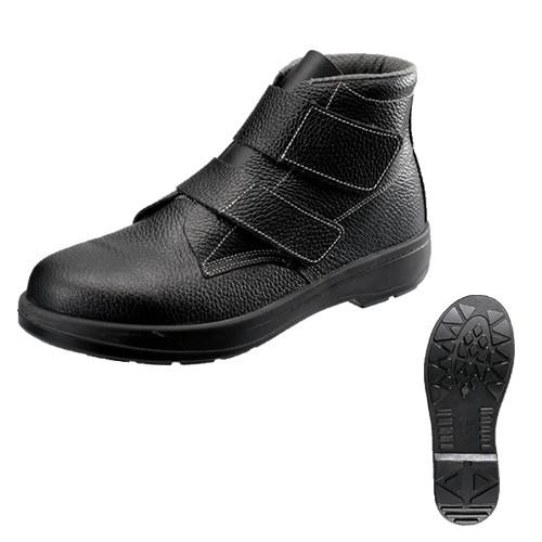 シモン安全靴 AW28 黒 中編上靴マジック付