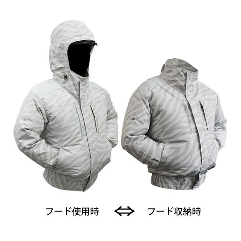 (EK1351)剛肩タチエリフードタイプブルゾン(フード収納タイプ)【社名刺繍無料・送料無料】
