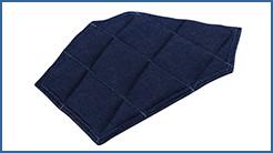空調服用 デニム調ショルダーパッド(1枚)