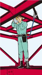 ツヨロン安全帯 一本つり専用 巻取り式